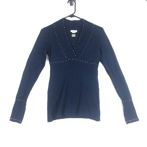 Cache navy Embellished sweater